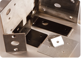 Custom-fabricated metal plates and brackets