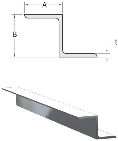Aluminum Aluminum Z Channel