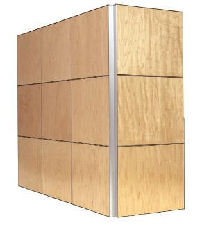 Monarch wall panel system demo box