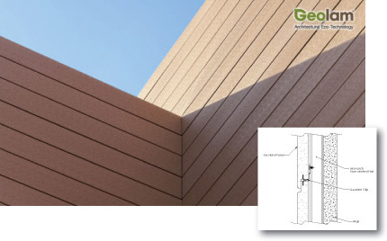 Geolam Natural Wood Composite Concealed Fastener
