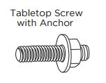 tabletop screw