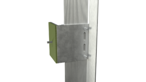 Monarch Metal Cladding and Rain Screen Systems - Wall Bracket Vertical Rails
