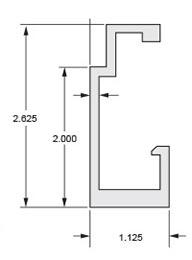Monarch Metal Z Clip MFSTR-1125