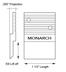 Monarch Metal Z Clip MF625