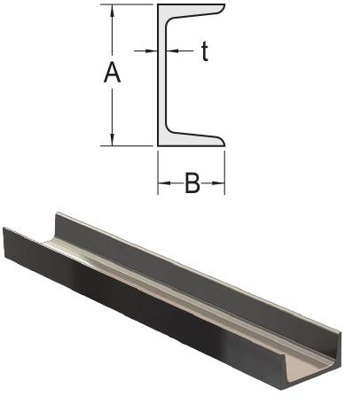 Monarch Metal Architectural Metal - Mild Steel Channel