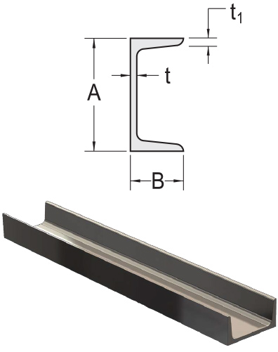 Monarch Metal Architectural Metal - Stainless Steel Channel