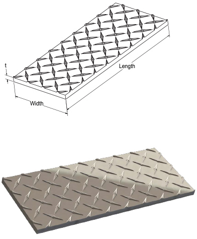 Monarch Metal Architectural Metal - Stainless Steel Diamond-Tread Plates