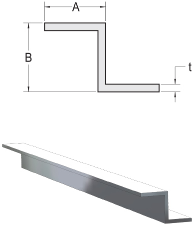 Monarch Metal Architectural Metal - Sharp Corner Aluminum Z Bar
