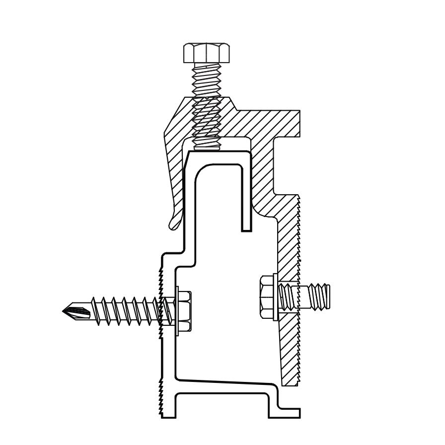 Monarch Metal Rail & Bracket for HPL Phenolic Panels