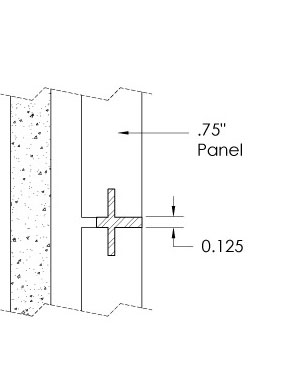 Monarch Metal Wall Panel System - EPS-V075-N or EPS-V039-N