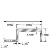 Monarch Metal Concealed Fastener System 110-000 J Channel