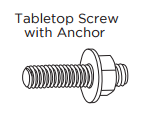 Aluminum Standoffs Table Top Screw with Anchor